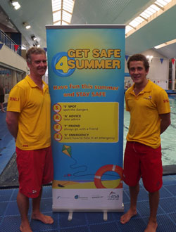 Get Safe 4 Summer poolside banner