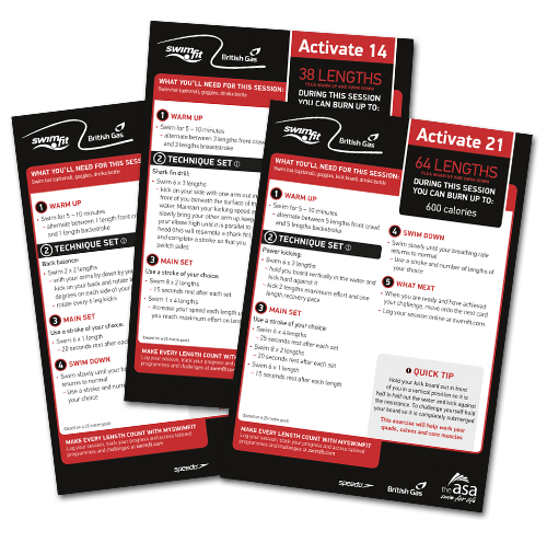 Swimfit Activate Technical Set Session Cards