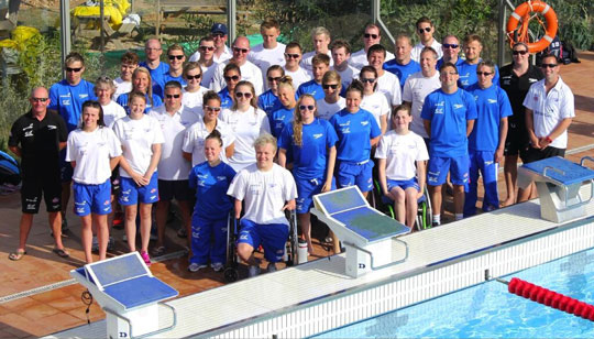 British Gas GBR Disability Swimming Team in Majorca