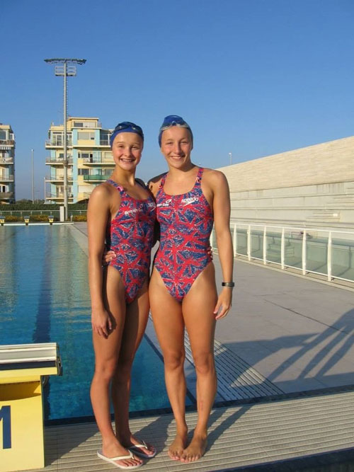 Jodie Cowie and Amy Campbell Synchronised swimmers