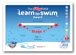 Asa Awards Your Child S Reward For Swimming Well Go