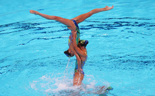 British Gas GBR Synchronised Swimming Team Barcelona 2013