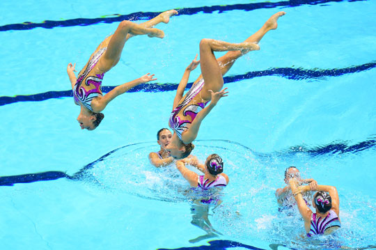 British Gas GBR Synchronised Swimming Team London 2012