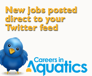 Jobs automatically added to your Twitter feed. Follow @jobsinswimming