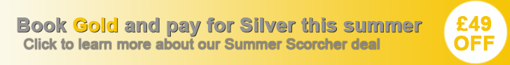 Get our Gold level advert for the price of a Silver this summer
