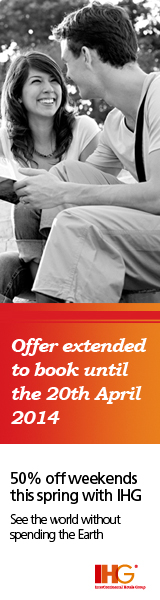Get 50% off a weekend break with IHG this Spring.