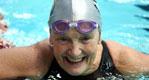 Masters swimmer breaststroke