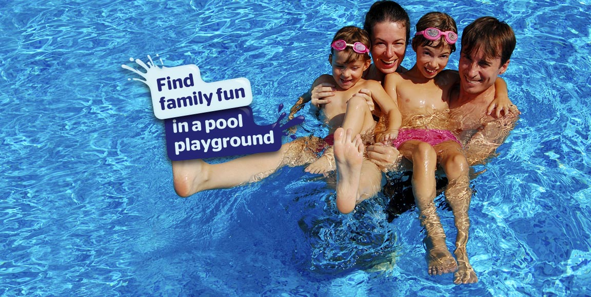 Find family fun in a pool playground