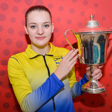 Millicent Costello with the Holland Trophy